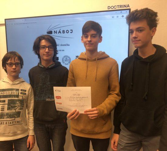 Mezinárodní metematicko – fyzikální soutěž NÁBOJ junior na Doctrina – PG