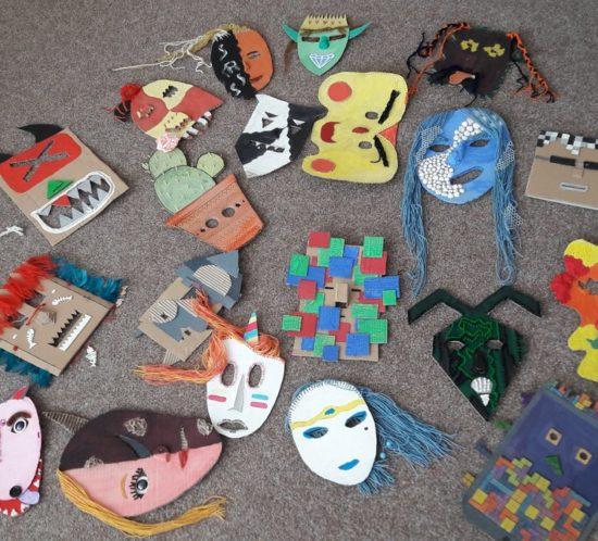 Masky – výtvarné práce terciánů