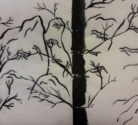 Čínská ajaponská tušová malba